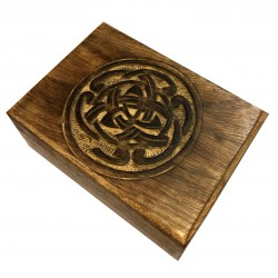 Box Wood Cover Sculpted Main Ethnic Pattern India