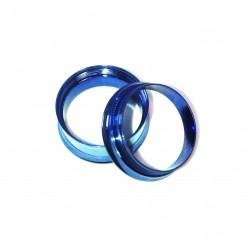 PIercing Plug Steel Blue Steel Chirugical Ear
