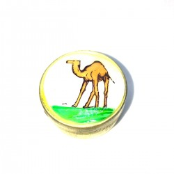 Round Box Metal Camel Pills Pilulier ONguent Herb Pollen