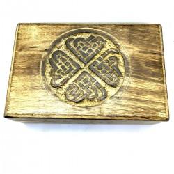 Pattern Box Ethnic Manguier Storage Cards Jewelry