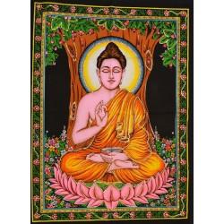 Tenture Buddha Divinity Buddhism Decoration Batik