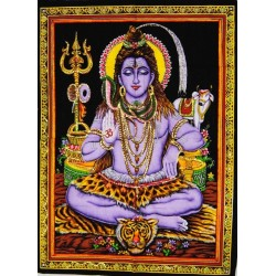 Tenture Divinity Shiva Third Eye Destruction Wisdom Hinduism