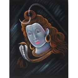 Batik Shiva Tenture Divinity God India