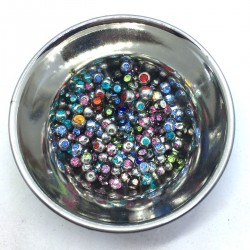 Piercing Ball Ball Ball Steel Strass 1.2 mm Balls Balls