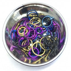 Lot Ring Iron Horse Steel 1.2 mm Piercing