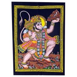 Tenture Batik Hanuman God India Indian Deity Monkey