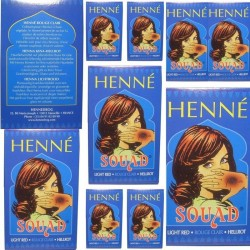 Lot Boxes Red Henné SouAd Hair Coloring