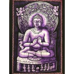 Tenture Batik Buddha Buddhism Wisdom Decoration