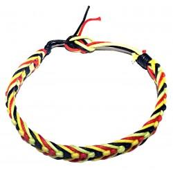 Braided Bracelet Cotton Rasta India Ethnic Nature Solid Marley