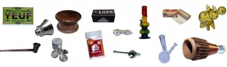 Pipes and accessories for smokers such as pipes and leaves.