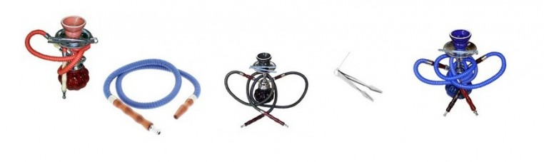 Scented tobacco pipe, called shisha, hookah,, hookah and accessories.
