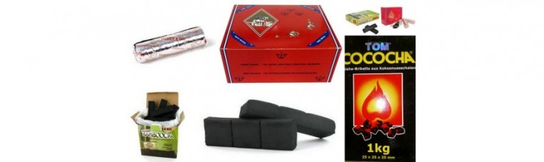 Natural chrbon box for chicha, hookahs, and resins.