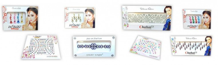 Bindis plate, Indian skin jewelry stickers.