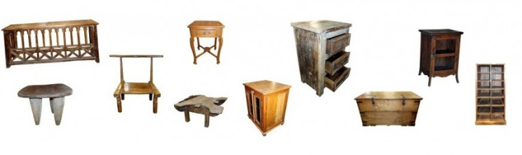 Furniture and accessories from Asia or Africa, old or recycled.