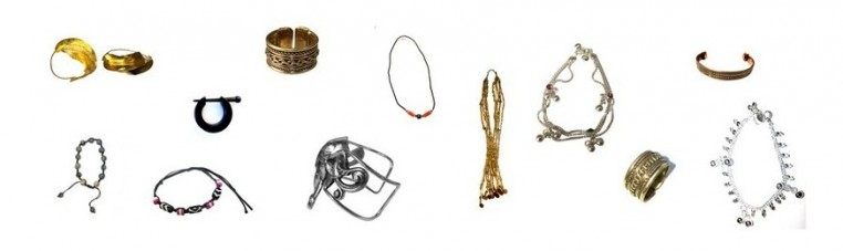 Jewelry, rings, necklaces, bracelets.