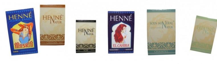 Henna powder, natural, and of plant origin for a natural hair coloring.
