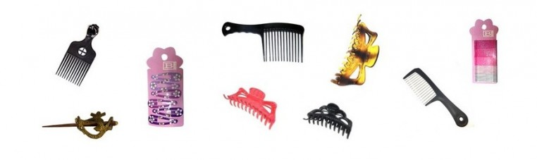 Bars, combs and tongs for colored metal hair, very solid.