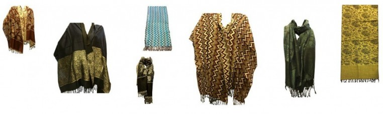 Pashmina in viscose and ray, made in India.