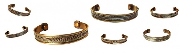 Copper metal bracelets without nickel, ideal for pain.