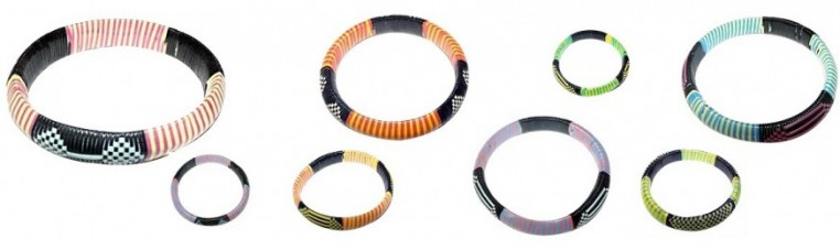 Tibi bracelet, from Burkina Faso, very colorful.