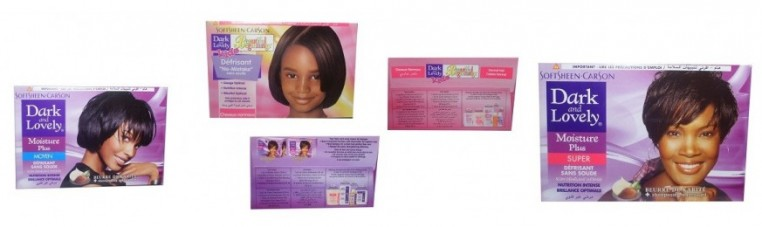 Dark and Lovely relaxer kit for adults and children.