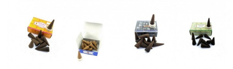 Indian incense in cones of well-known and reputable brands around the world.