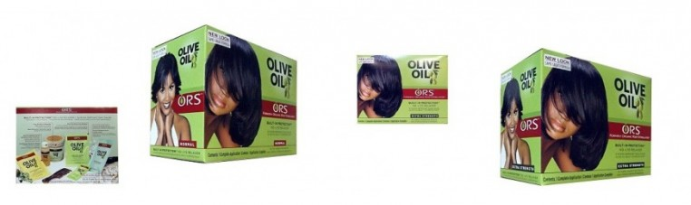 Olive Oil hair relaxer kit for adults.