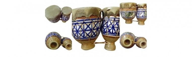 Earth percussion, derbouka.