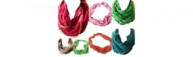 Infinite cotton scarf