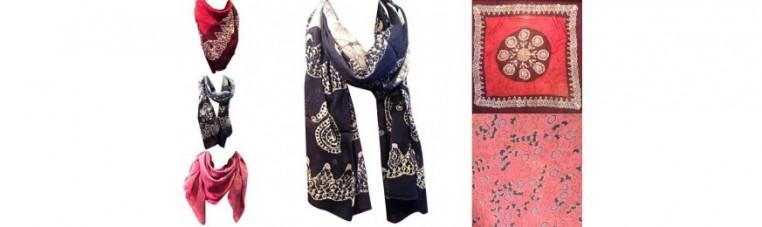 Cotton scarves.