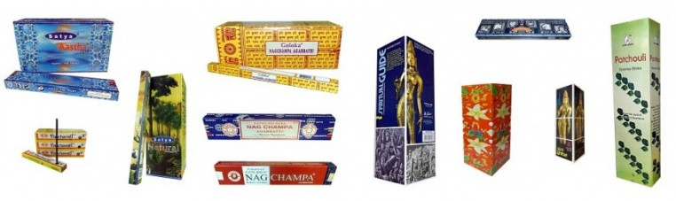 Incense sticks of India origin of different perfumes all from the largest firms that ensure an impeccable quality.