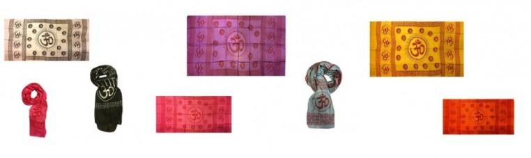 Ram Ram cotton scarf with the symbol Om.