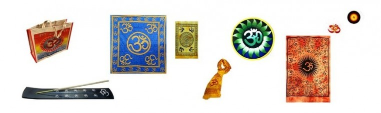 Products with the main image of Ohm, Buddhist sign.