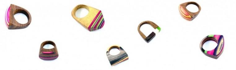 Indian rings handmade in wood.
