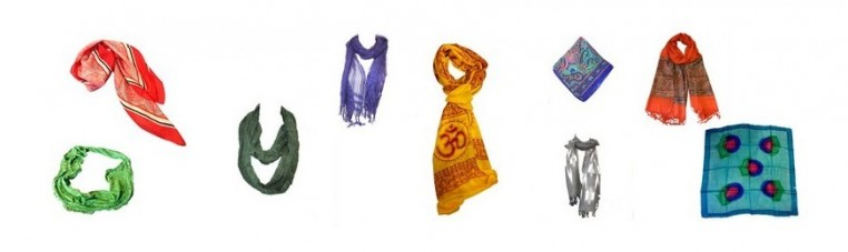 Scarves, scarves and stoles, made in India, of the highest quality.