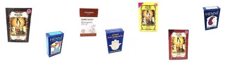 Henna powder colours the hair.