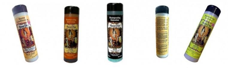 Henna-based shampoo to coat hair dyes with henna.