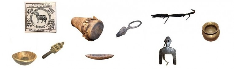 Ancient objects from West Africa or India, ethnic and unique.