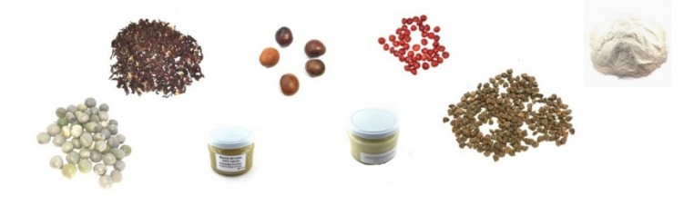 Products extracted from plants from Africa or India for cosmetic products or beverages.